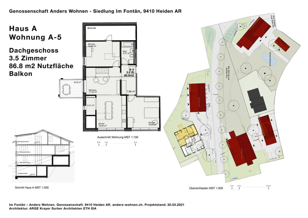 AW Wohnung A-5 - 3.5 Zi - 86.8m2