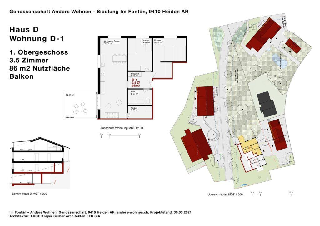 AW Wohnung D-1 - 3.5 Zi - 86m2