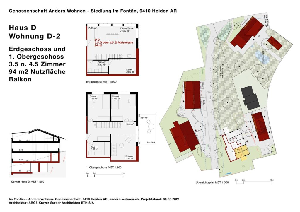 AW Wohnung D-2 - 3.5/4.5 Zi - 94m2
