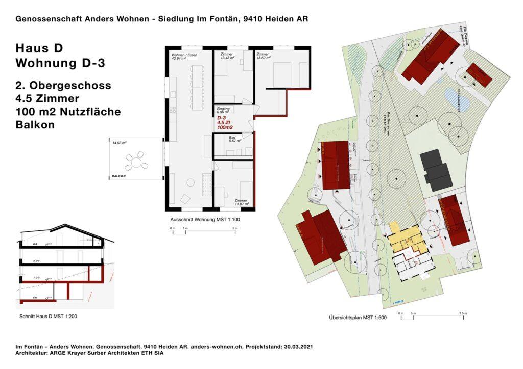AW Wohnung D-3 - 4.5 Zi - 100m2