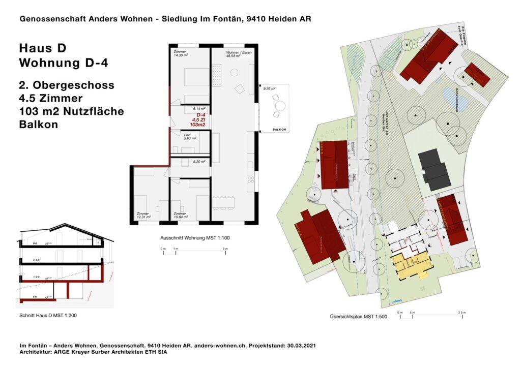 AW Wohnung D-4 - 4.5 Zi - 103m2