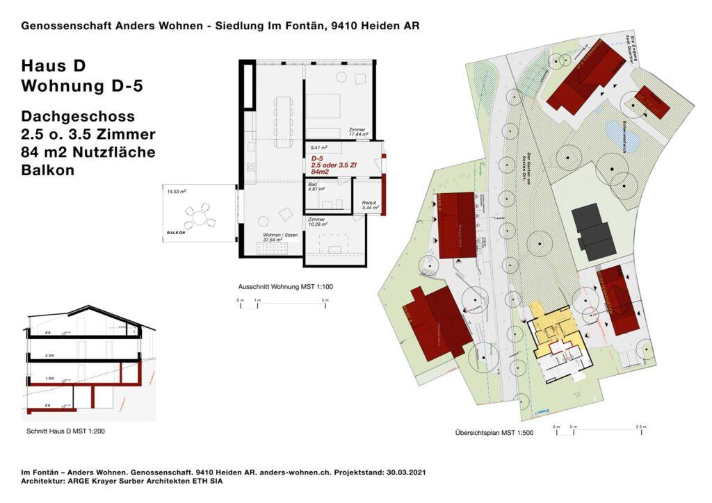 AW Wohnung D-5 - 2.5/3.5 Zi - 84m2