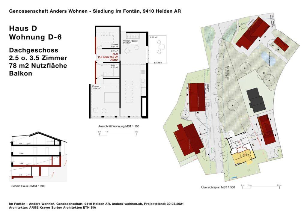 AW Wohnung D-6 - 2.5/3.5 Zi - 78m2